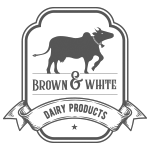 Brown & White